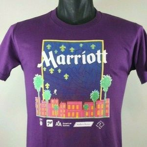 Vintage 80s MARRIOTT New Orleans T Shirt Size M